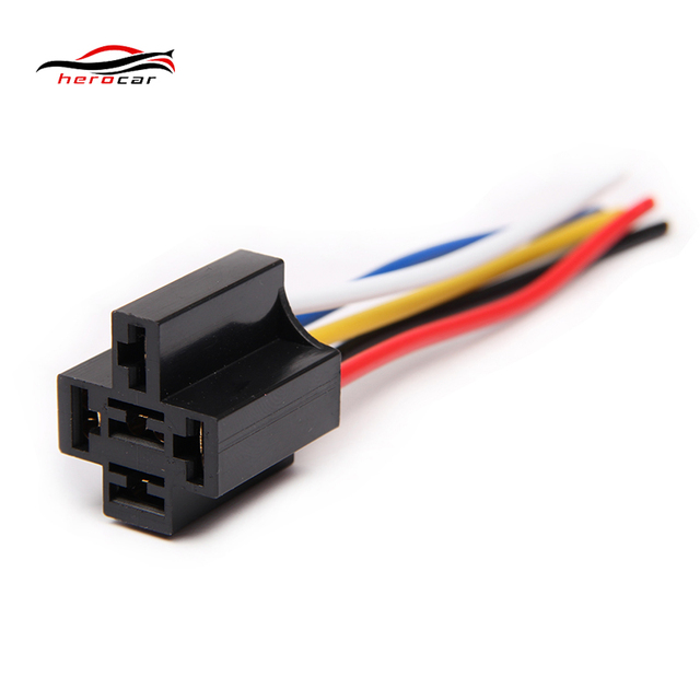 herocar 2pcs relay harness 12v 12 volt dc 30a 40a amp car auto spdt rh aliexpress com SPDT Relay Wiring Diagram Dpst Relay
