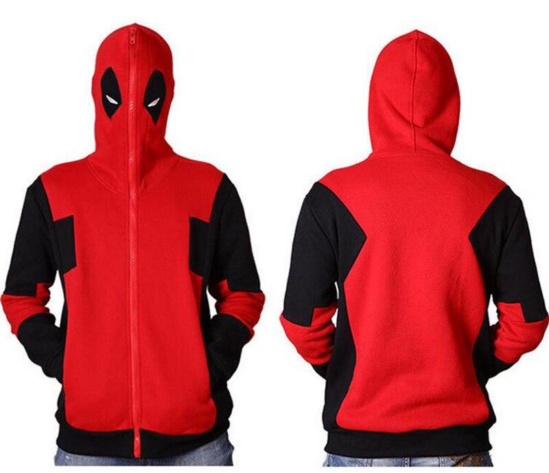 Superhero Cosplay Deadpool Women Men Jacket Wade Wilson Hoodie Sweatshirt Cosplay Deadpool Hoodies