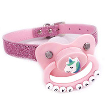 ABDL Adult Pacifier BDSM for Woman Pink Dummy Baby Girl Cosplay SM Mouth Ball Bo
