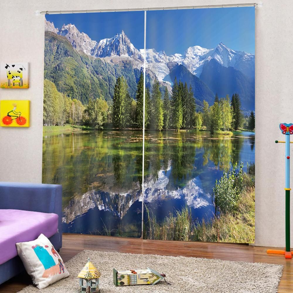 customize height stereoscopic curtains for living room window curtain bed room  beautiful scenery 3D curtainscustomize height stereoscopic curtains for living room window curtain bed room  beautiful scenery 3D curtains