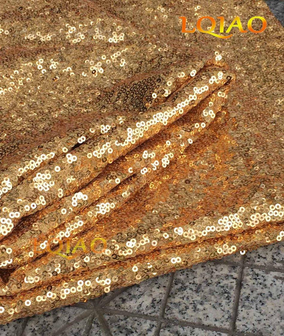 gold sequin fabric-002