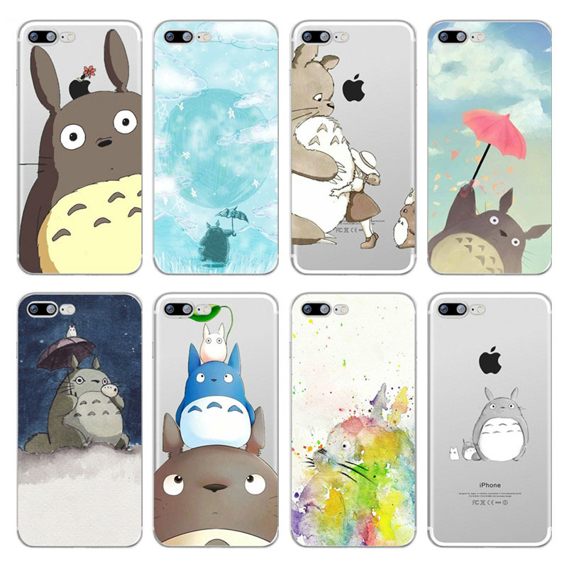 Cartoon Totoro Spirited Away Ghibli Miyazaki Anime Kaonashi Soft TPU Case Cover For iPhone 6 6s 7 8 Plus X 5s SE Xs Max Xr Coque marvel glass iphone case