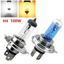 цена на  led lamp car auto 12v lighting h4 100w 4300k 6000k Cars pure white yellow halogen headlight bulbs fog lights car styling