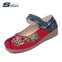 Loafers Women Fashion Women Embroidery Shoes Soft Footwear Classic Ladies Flats Size Eu 35 40 Aa20480