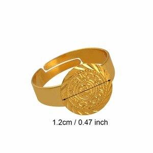 Image 2 - עתיקות קטן מטבע טבעת לנשים, משלוח גודל מטבעות ילדה אמצע מזרח תכשיטי מוסלמי אסלאמי סיטונאי מטבעות ערבית #139306
