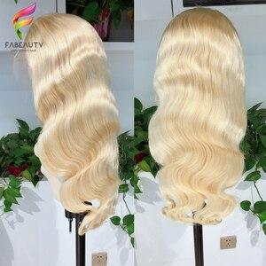 Image 2 - Glueless #613 Blonde Spitze Front Menschliches Haar Perücken Brasilianische Körper Welle 13*4 Spitze Vorne Perücke Pre Gezupft honig Blonde Remy Spitze Perücken