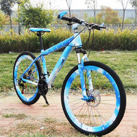 New Style 26 Inches 21 Speed Double Disc Cycling Factory Suspension Activity Style Bike Gift Mountain Bike
