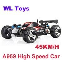 WLtoys A959 Elektrische Rc Auto Nitro 1/18 2 4 Ghz 4WD Fernbedienung Auto High Speed Off Road Racing Auto Rc monster Lkw Für Kinder