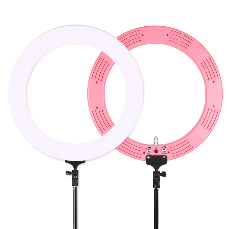 Photo Studio Camera Ring Light Kit, LED Lighting with Light Stand 60W Dimmable Bi color 5500k Cosmetic Mirror for Camera CD50