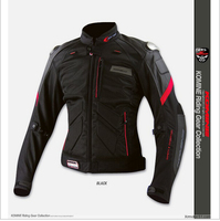 Free Shipping New For KOMINE JK 036 The Titanium Leather With Mesh Racing Suits Motorcycle Jackets