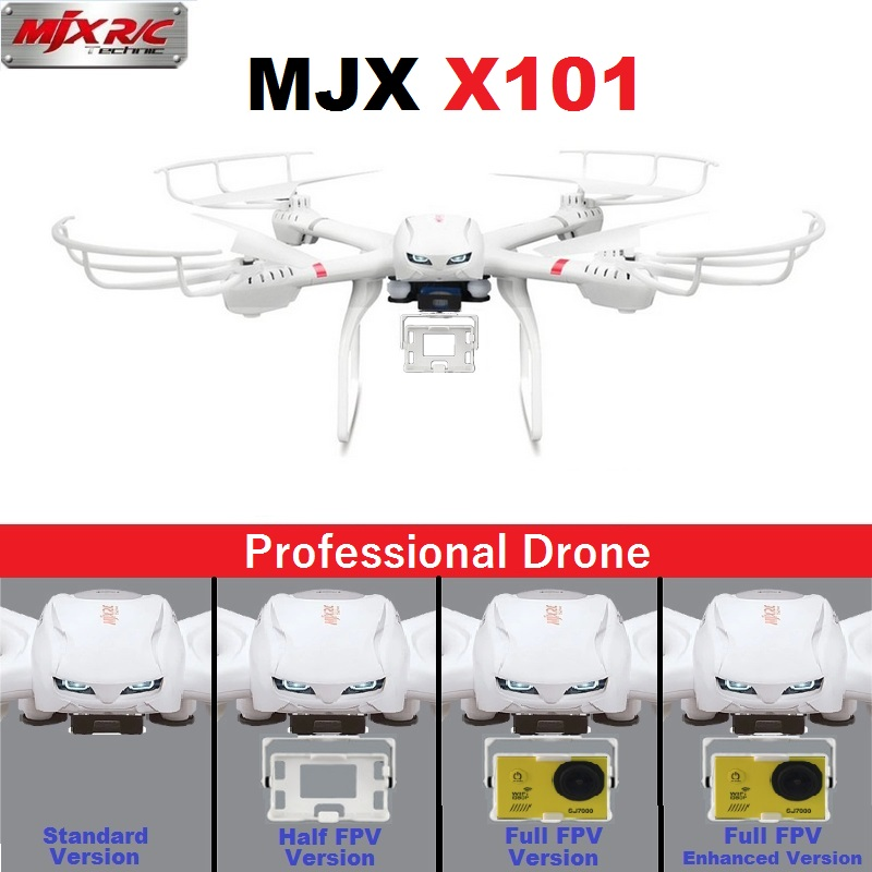 Professional Drones MJX X101 2.4GHz 6-Axis FPV RC Quadcopter Helicopter With SJ7000 14MP 1080P Full HD WiFi Camera радиоуправляемый квадрокоптер mjx x101 6 axis 2 4g x101 mjx