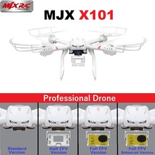 Profesional Drones MJX X101 2.4 GHz 6-Axis FPV RC Quadcopter Del Helicóptero Con SJ7000 14MP 1080 P Full HD WiFi de La Cámara