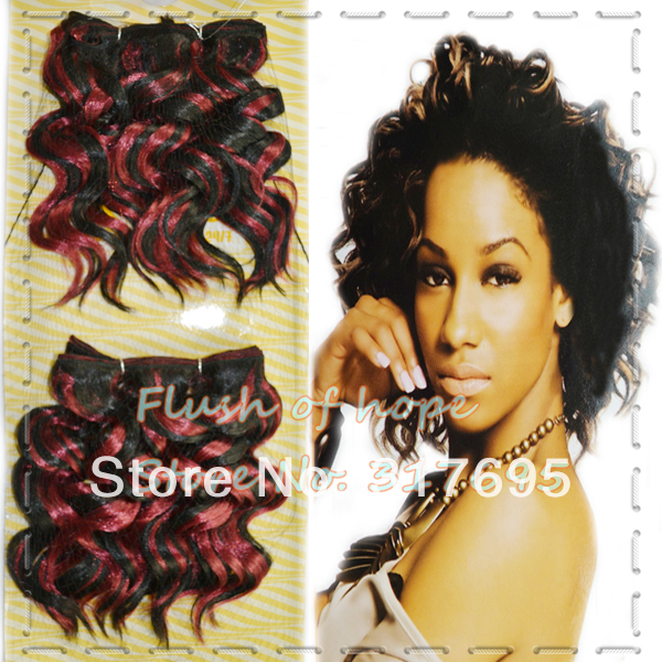 Free Shipping Noble Gold Eva Synthetic Hair Extensions Water Wavy