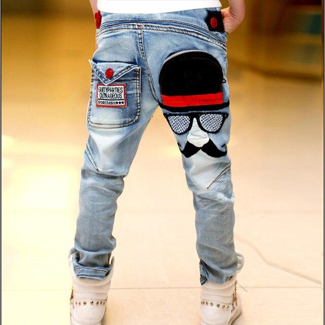 2016 осенью новый Корейский мальчик джинсы борода джинсы стрейч хлопок джинсовые брюки плюс размер горячая продажа