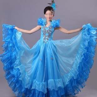 Spanish Bull Dance Modern Dance Costume One-piece Dance Dress Princess Dress Performance Clothing 6 Color