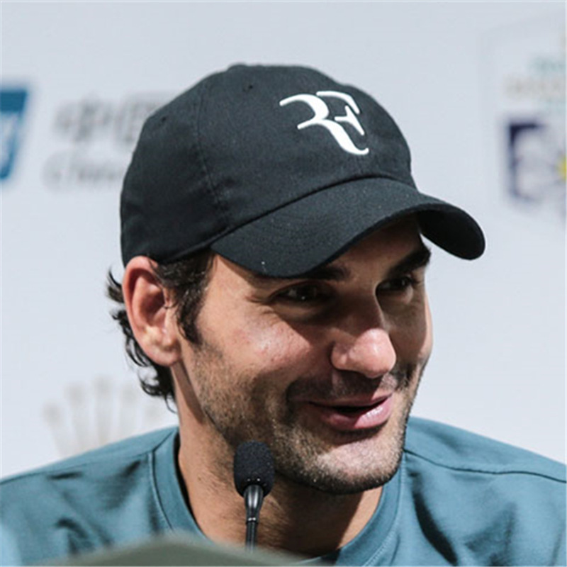 New Tennis Star Roger Federer Cap 3D Embroidery Dad Baseball Caps Unisex Snapback Hat Tennis F Hats Dropshipping