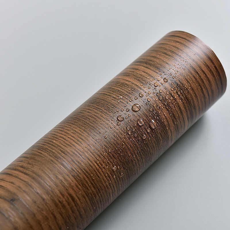 Pegatinas de pared PVC vinilo grano de madera papel pintado autoadhesivo cocina armario muebles Puerta de renovación 5 M/10 M impermeable