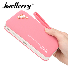 Baellery 8 Colors Cards Holder Wallet Ladies Cute Box Women Long Pure Color Clutch Bag 2019 New PU Leather Girls Wallets