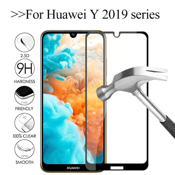 Protective glass For huawei y6 pro y9 prime y7 y5 2019 screen protector on huawey y 5 6 7 9 6Y 5Y 9Y protective glas safety Film image