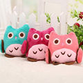 Cotton Owl Plush Toy Baby Stuffed Animal Doll Random Color Soft Children Gifts Kids Plush Keychain BAG Pendant Toys