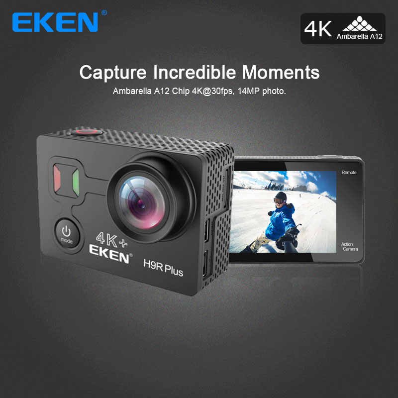 Original Eken H9r Plus 4k 30fps Action Camera with Ambarella A12 and sensor 34112 great for sport camera go waterproof pro cam