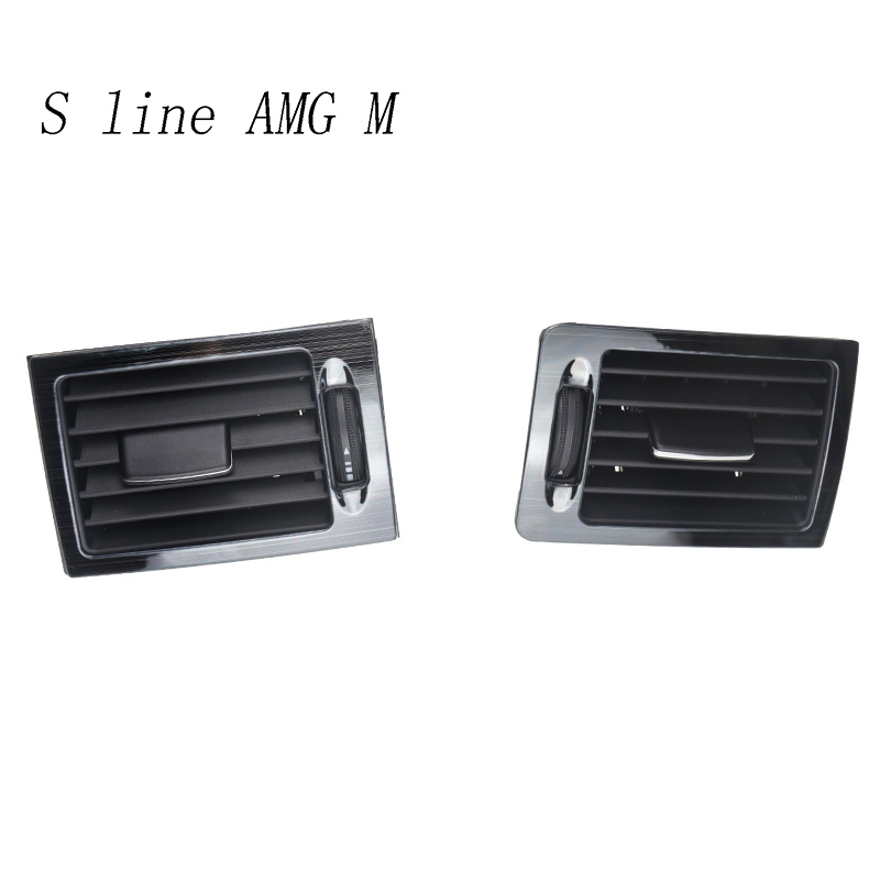 Car Styling AC Front Air Outlet Trim Frame Decoration Stickers Covers For Mercedes Benz C Class W204 Black Auto Accessories LHD