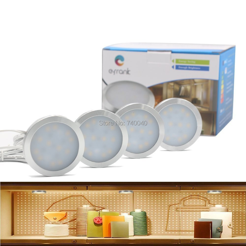 Getinlight Led Puck Lights Kit: Kitchen Decor Dimmable LED Under Storage Cabinet Light Bar