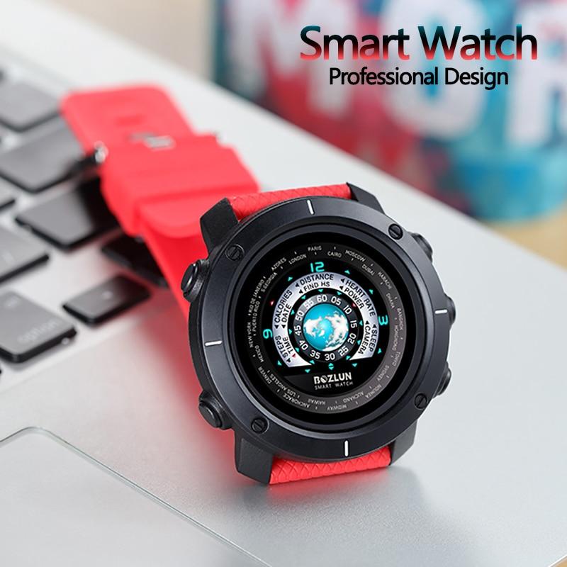 RollsTimi montre intelligente montre-bracelet militaire hommes moniteur de fréquence cardiaque Message Push Bluetooth IP67 étanche bracelet intelligent