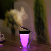 USB Oil Diffuser LED Essential Water Cup Humidifier Household Purifying Air Silence Cool Mist LED 7