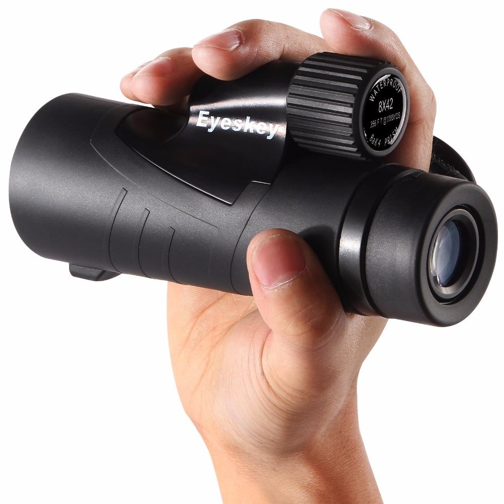 Monocular Telescope 10x42 Waterproof BAK4 Compact Monocular+ Hand Strap for Tourism Camping Hiking Birdwatching