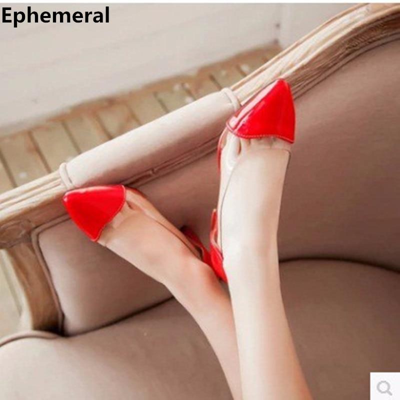 Signore elegante Sexy scarpe a punta Copertura Patch Piazza spessa alti talloni dei pattini di Vestito tacco alto donne pompe big size (4-12) Nero Bianco Rosso