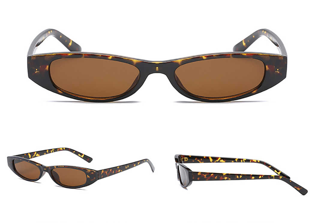 4594b3a63f9d Vintage Cat Sunglasses Women Fashion Small Rectangular Frame Black Red Cat  Eye Sun Glasses Retro Skinny