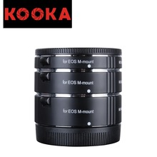 KOOKA KK-CM47 Copper Extension Tube Set with Auto Focus TTL Exposure for Canon EOS Mirrorless Cameras (10mm 16mm 21mm)
