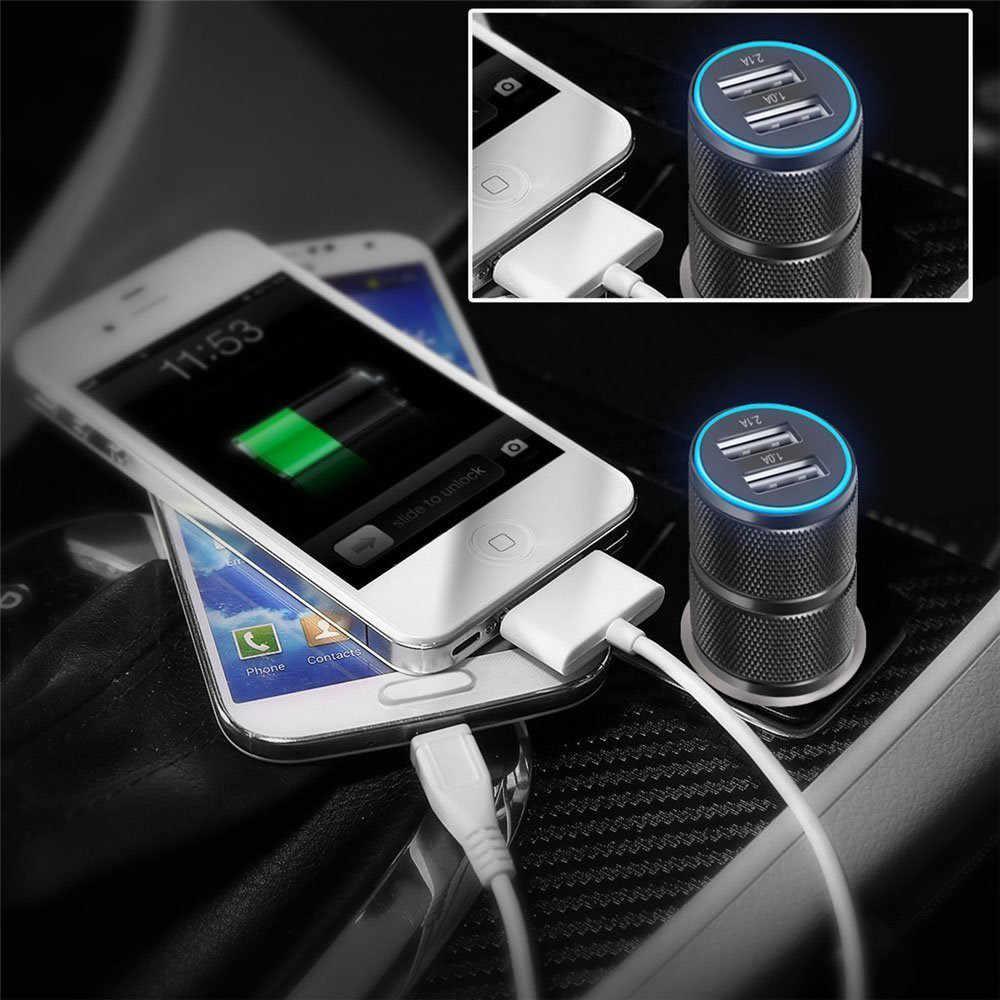 2019 Charger Mobil Ganda USB 3.1A 24 W Cepat Pengisian Charger untuk Ponsel Mobil Charger untuk Samsung Xiaomi iPhone X 8 7 6 Plus