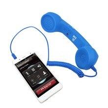 2016 Новое Прибытие Классический 3.5 мм Комфорт Retro Phone Handset Mic Громкой связи Вызова Приемник Для Мобильного Телефона Оптовая бесплатный корабль