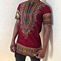 Женщины Африканских Одежды Одежда Продвижение Ограниченной Полиэстер 2016 мужская С Коротким Рукавом Футболки Печати Народном Стиле Мужской Одежды