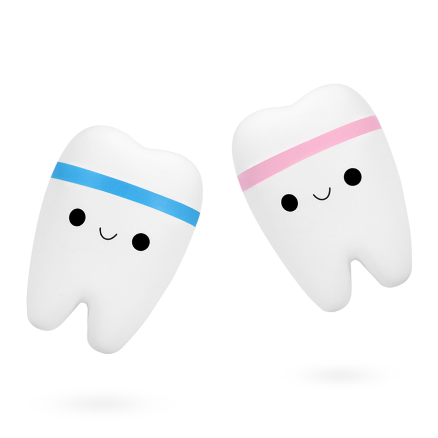 1/Pcs Anti Stress Squishy Toys Cute Smile Tooth Soft Cute Squash Jumbo Slow Rising Cube Anti-Stress Squishies Toy For Kids Adult