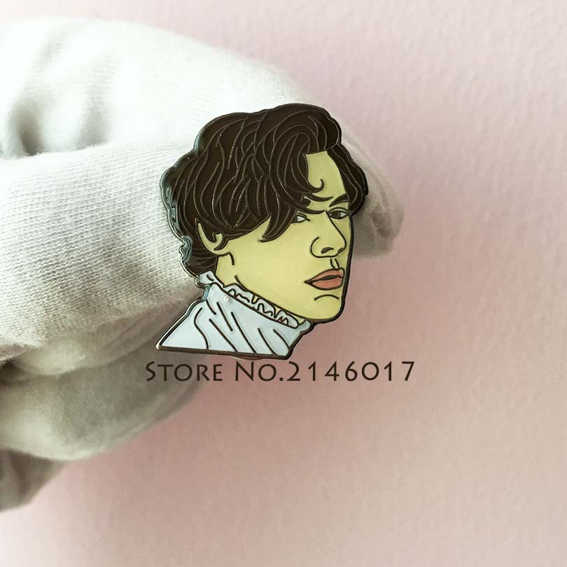 10pcs Newly Harry Styles Sweet Creature Enamel Pin Popular Musician Lapel Pins and Brooch <font><b>Meme</b></font> Cartoon Metal Collar Pin Badge image