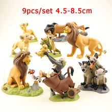 8/9/12 pcs/set The Lion King Simba Nala Timon Cartoon Movie Medol Anime Action Figure PVC Dolls Set Toys Child Birthday Gift Boy