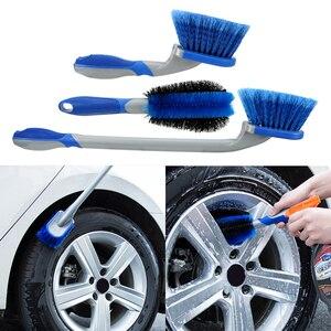Image 4 - Leepee multi funcional carro detalhando escova de roda de carro ferramenta de combinação de lavagem de carro ferramenta de limpeza de pneus de poeira de carro escova