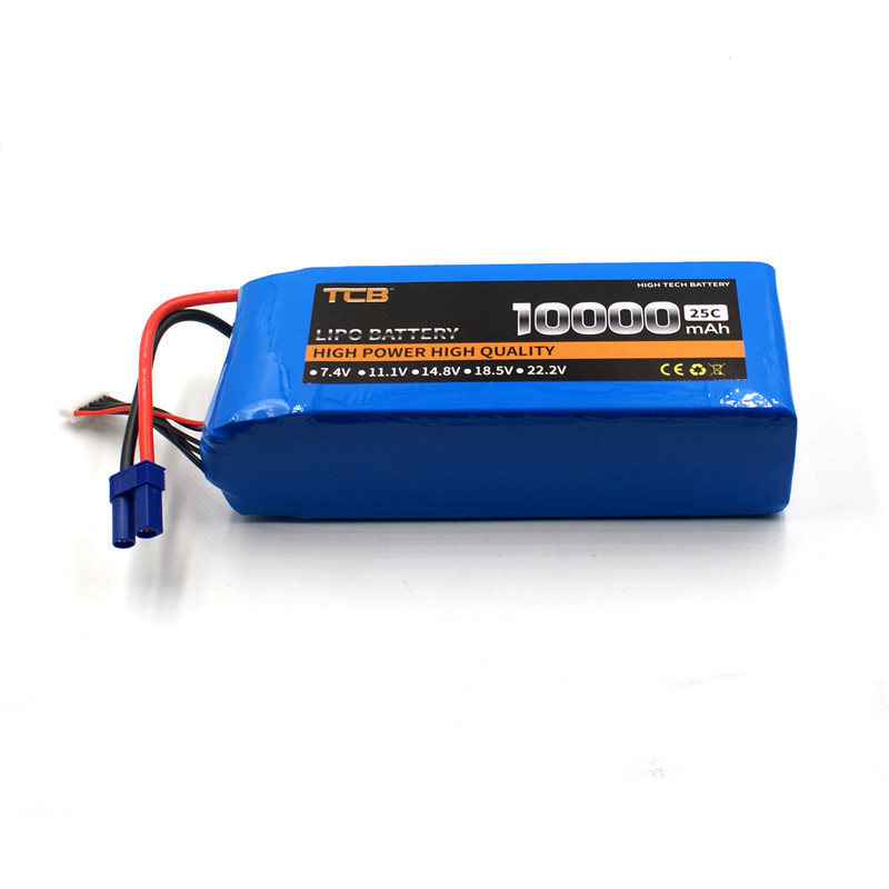 TCB RC LiPo Battery 18.5V 10000mAh 25C 5S FOR RC Airplane Drone Quadrotor Helicopter Car Boat Li-ion Batteria AKKU mos 2s rc lipo battery 7 4v 2600mah 40c max 80c for rc airplane drone car batteria lithium akku free shipping