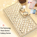 Bling do cristal virar rhinestone phone case para samsung galaxy note 4 3 2 s3 s4 s5 s6 s7 s6 borda saco de diamantes de luxo case capa coqu