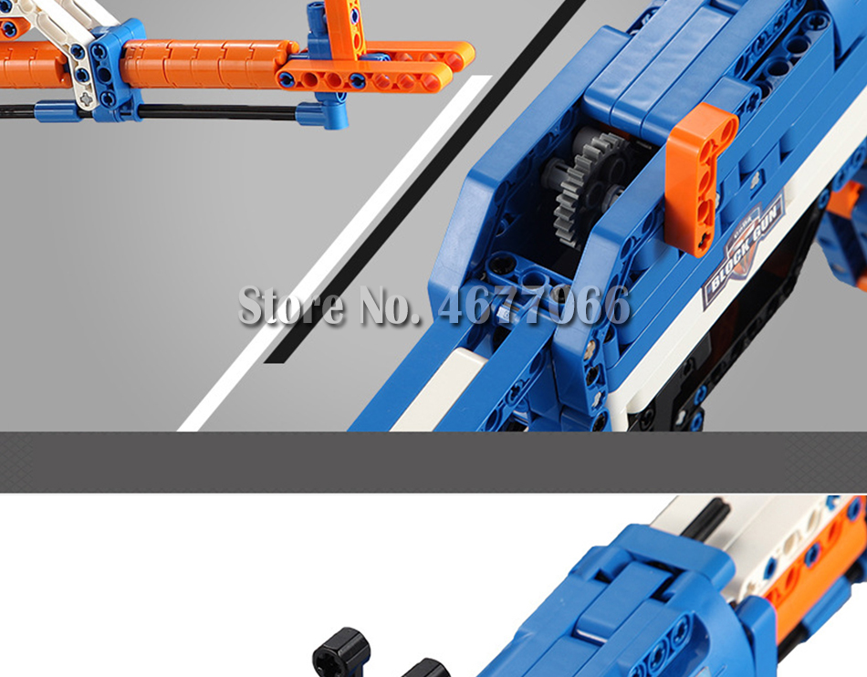 cada technic building blocks AK-47  gun  military legou toy bricks weapon set can fire  rubber band  toys for children boys kids 23
