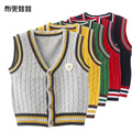 New Spring leisure England College Kids Boys Baby knitted sweater vest cotton A144