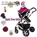 CCC SGS cerfiated New born triciclo Carrinho de Bebê da Luz Do Carro Dobrável Two-way Amortecedores Carrinho de Acessórios 7 cores