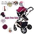 Recién nacido el cochecito de bebé de tres ruedas ligero plegable de dos vías Amortiguadoras carretillas Accesorios Carrinho de