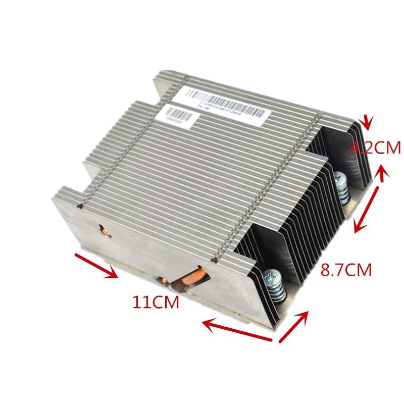 2U 2011 Pin CPU Cooler Server Rectangular Server Radiator CPU Processor Heat Sink Passive 2011 Pin Platform Server Aluminum