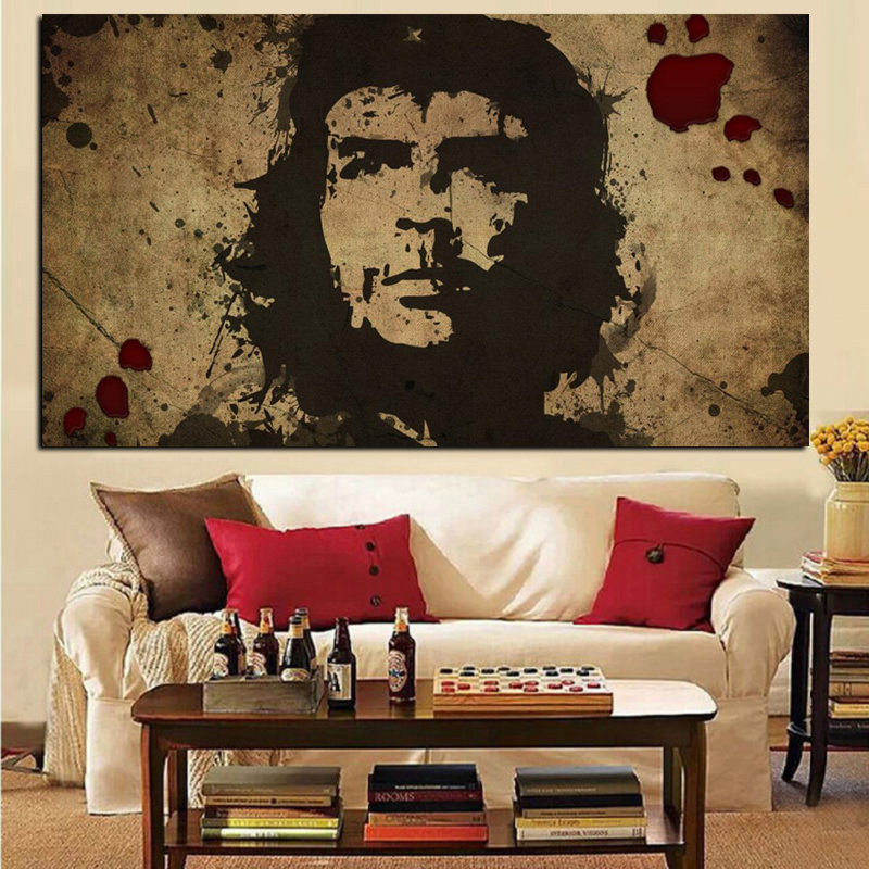 HD Print Wall Art Canvas Character Retro Che Guevara Freedom Posters Wall picture for Living Room Nostalgic Old Bar Decorative (2)