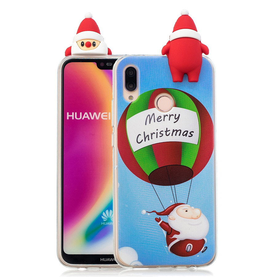 3D Christmas Tree Transparent Phone Case For Huawei P20 Lite Santa Claus Xmas Cases For Huawei P20 Lite TPU Silicone Cover