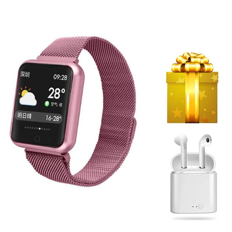 สายรัดข้อมือสมาร์ท + หูฟัง/ชุด pulsera inteligente mujer กันน้ำ ip68 smartwatch ผู้หญิงสำหรับ ios android สาว smartband reloj-ใน สายรัดข้อมืออัจฉริยะ จาก อุปกรณ์อิเล็กทรอนิกส์ บน AliExpress - 11.11_สิบเอ็ด สิบเอ็ดวันคนโสด 1